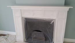 Feature Hand Painted Fireplace Upminister Residential B